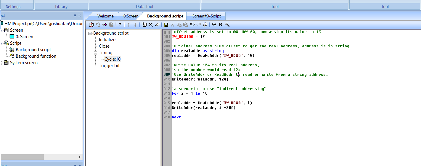 Hmi Programming Indirect Addressing And Cycle Jofas